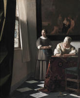 Johannes Vermeer, Lady Writing A Letter With Her Maid, c. 1670
